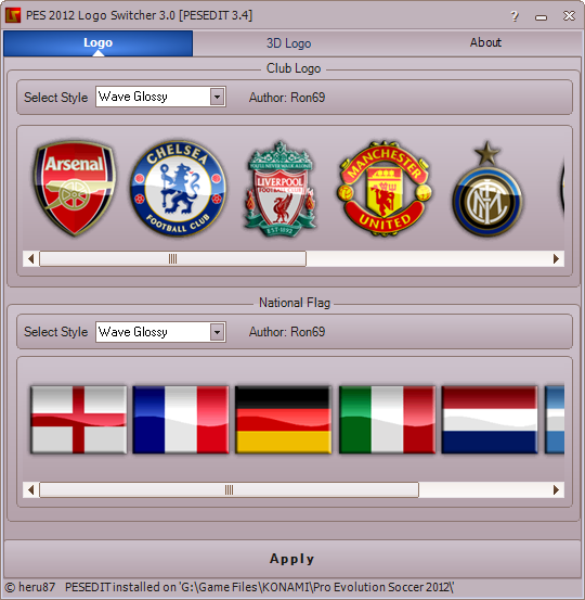 PES 2012 LogoSwitcher 3.0 for PESEDIT