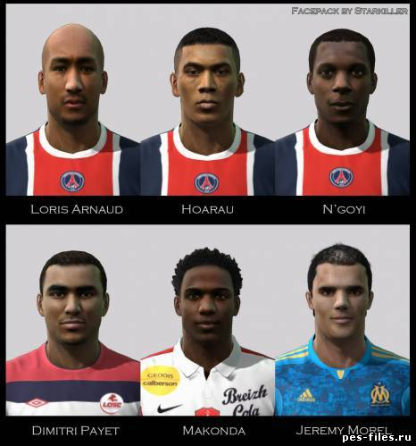 Pes 2011 Ligue 1 Faces Pack