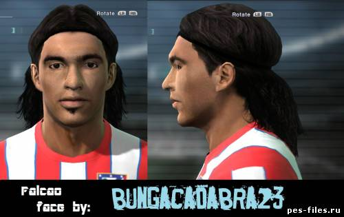 Pes 2011 Radamel Falcao Face