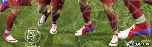 NIKE MERCURIAL VAPOR SUPERFLY III WHITE RED BLUE FOR PES13