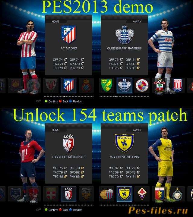 Pes 2013 demo 1 patch