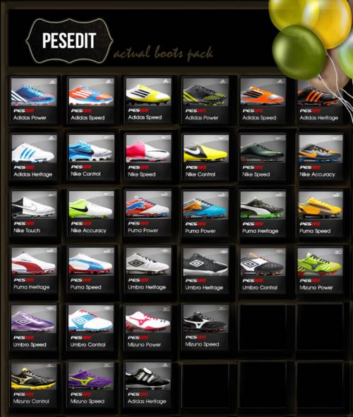 PES13 ACTUAL 31 BOOTS PACK [SEPT]