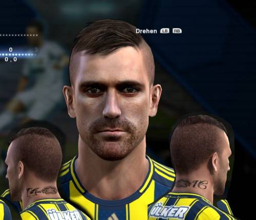 Pes 2013 Raul Meireles Face by EmreKaya