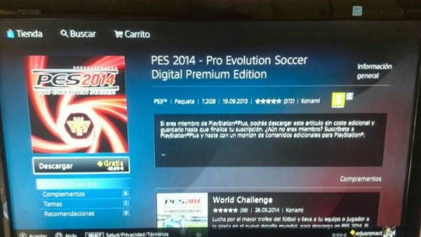 Pro Evolution Soccer 2014 Will Come Free for PS Plus members!