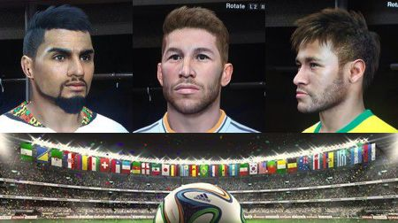 PES 2014 - DLC 7.00: List of faces Update