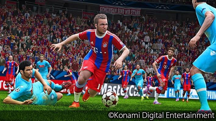 PES 2015 menu Gamescom Demo