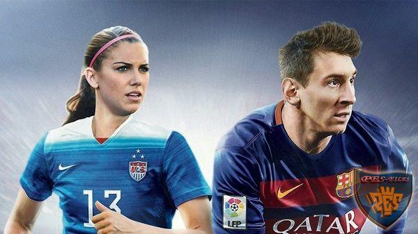 Алекс Морган вместе с Месси на обложке FIFA 16