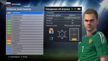 Акинфеев Евро 2016 для Pes 2016 DLC 3.0