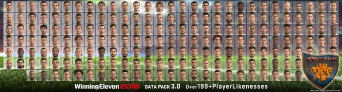 Лица Евро 2016 для Pes 2016 DLC 3.0