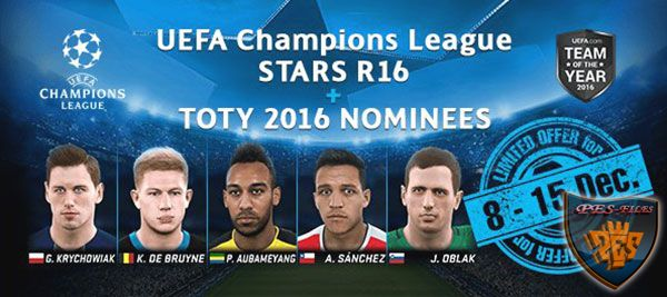 UEFA Champions League Stars R16+TOTTY 2016 NOMINEES