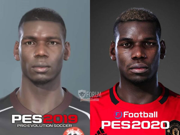Paul Pogba Pes 2019 vs Pes 2020